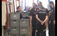 La factoria Ajusa recibe la visita de bomberos de Albacete y Cuenca