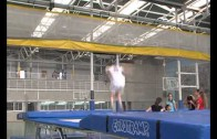 Los gimnastas de trampolín se preparan para el Campeonato de España