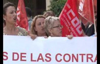Manifestación contra la privatización de las residencias