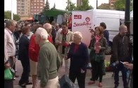PP y PSOE hacen campaña en los Invasores