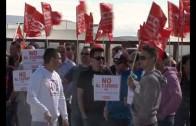 Protesta de los trabajadores de Gamesa y Extrual
