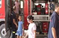 AF Los niños saharauis visitan el Parque de Bomberos de Albacete