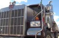 Romería de camiones para celebrar San Cristóbal en Pozo Cañada