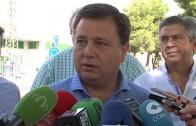 Manuel Serrano visita las obras de Campollano