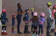 Exhibición de patinaje en el Pabellón Lepanto
