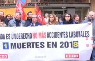 Minuto de silencio por el trabajador fallecido de Almansa