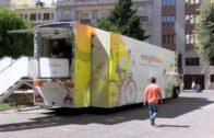 El camión sostenible «Energytruck» aparca en Albacete