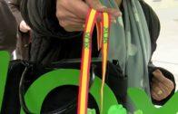 Vox coloca su logo y la bandera de España en la calle Ancha