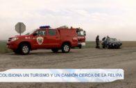 Colisiona un turismo y un camión cerca de La Felipa