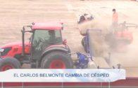 El Carlos Belmonte cambia de césped