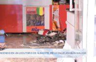 Incendio en un locutorio de Albacete, en la calle Joaquín Quijada