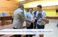 Entrega de diplomas para los alumnos/as del CRMF de Albacete