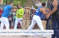 Exposicion de deporte rural vasco en plena feria 110919