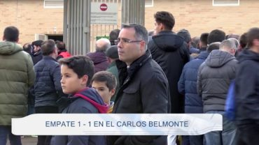 Empate 1  – 1 en El Carlos Belmonte