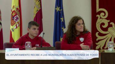 El ayuntamiento recibe a las mundialistas albaceteñas de Tokio