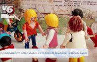 El confinamiento responsable, visto por los playmobil de Miguel Ángel
