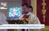 Solemne misa en Pozo Cañada en honor a San Juan Bautista