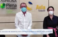 El Colegio de Odontólogos entrega kits bucodentales a Asprona