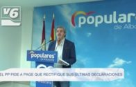 El Partido Popular pide a Page que rectifique sus últimas declaraciones