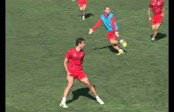 Intenso entrenamiento del Albacete
