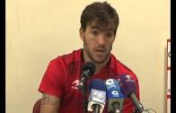 Israel Bascón habla tras el entrenamiento del Alba