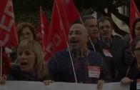 La coctelera 2012. Concentración de los trabajadores de ECOMED y visita de Leandro Esteban a AJUSA.