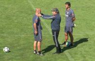 Enrique Martín dirige su primera sesión como entrenador del Alba
