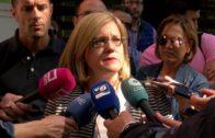 Los funcionarios sacan los colores a Aurelia Sánchez