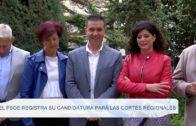 El PSOE registra su candidatura para las Cortes Regionales