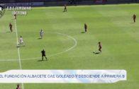 El Fundación Albacete cae goleado y desciende a Primera B