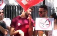 Los trabajadores del Hospital Quirón protestan ante la precariedad