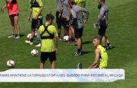 Ramis mantiene la convocatoria del sábado para recibir al Málaga