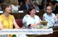 ¿Cuántos asesores hay esta legislatura en Albacete?