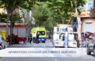 Aparatoso choque en Torres Quevedo
