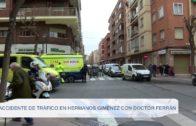 Accidente de tráfico en Hermanos Jiménez con Doctor Ferrán