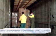 Llegan los cargamentos de mascarillas a Castilla-La Mancha
