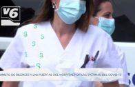 Minuto de silencio en las puertas del Hospital de Albacete por las víctimas del COVID-19