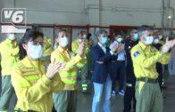 Homenaje al esfuerzo de los bomberos de Albacete contra el covid-19