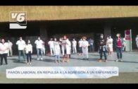 HOSPITAL | Los sanitarios se concentran en repulsa a la agresión de un enfermero en Albacete