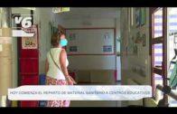Hoy comienza el reparto de material sanitario a centros educativos