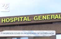 77 ingresos Covid en hospitales de la provincia
