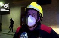 Un herido en el incendio de la calle Campo de Montiel