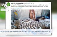 GUARDIA CIVIL | Detenidos por robar material y mobiliario en viviendas en construcción en Agramón