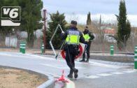 Vuelca un camión con mercancía peligrosa en la provincia de Albacete