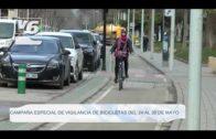 Campaña especial de vigilancia de bicicletas del 24 al 30 de mayo