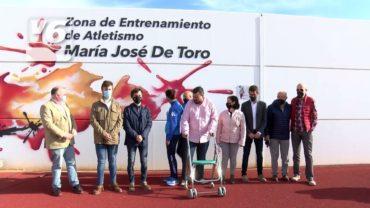 María José De Toro da nombre a una nueva zona para atletas en La Roda