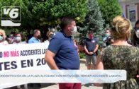 Concentración en la Plaza del Altozano con motivo del tercer accidente laboral