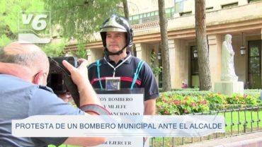 """Protesta de un bombero municipal por lo que consideran una """"falta grave"""""""